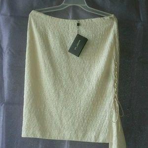 New St. John Evening Skirt Sz 8 Wool Blend Bright